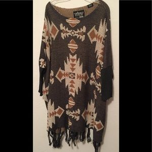 Powder River Outfitters, Aztec Fringe Sweater